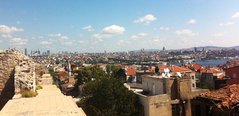 Los muros que protegen Estambul